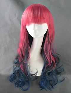 하라주쿠 스타일 grediant 여러 가지 빛깔의 곱슬 로리타 가발