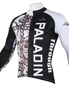 PALADIN® Cycling Jersey Men's Long Sleeve Bike Breathable / Quick Dry / Ultraviolet Resistant Jersey / Tops 100% Polyester SkullsSpring /