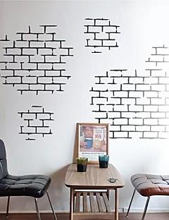 pegatinas de pared Tatuajes de pared, modernas ladrillo ladrillo pegatinas de pared de características de textura pvc