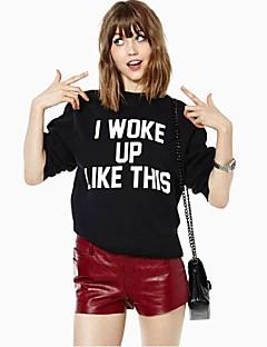 Women's Print Black Pullover,Cute Long Sleeve