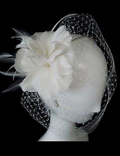 Dame Fjer Medaljon Bryllup/Speciel Lejlighed Fuglebur Slør Bryllup/Speciel Lejlighed