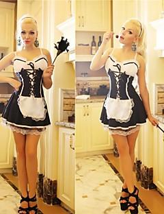 cameriera uniforme classico grembiule bianco e nero francia cameriera servo adulta della donna