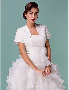 Wedding  Wraps Coats/Jackets Short Sleeve Tulle White Wedding / Party/Evening 38cm