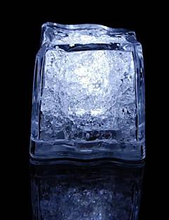 LED-Licht Touch glänzende weiße Eiswürfel (12pcs)