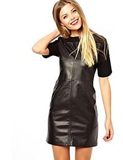Women PU Dress , Without Lining
