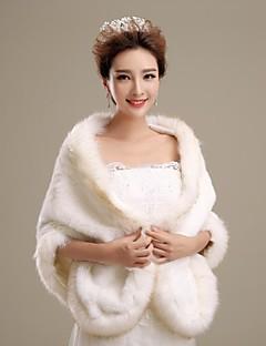 faux fur bruiloft shawl