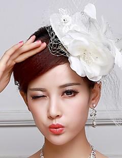 Women's Flower Girl's Satin Lace Headpiece-Wedding Fascinators Flowers Hats