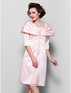 Women's Wrap Coats/Jackets Long Sleeve Satin Pearl Pink Wedding / Party/Evening Scalloped-Edge Button / Draped Clasp