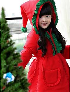 Cosplay Kostuums Kerstmanpakken Festival/Feestdagen Halloween Kostuums Effen Jas Kerstmis Kind Polyester