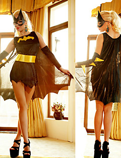 batwoman frais costume robe noire femmes carnaval de partie