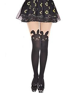 Meias e Meias-Calças Doce Lolita Princesa Preto Lolita Acessórios Meias Finas Animal Para Feminino Veludo