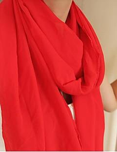 여성의 순수한 컬러 쉬폰 스카프