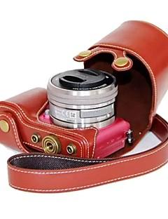 pajiatu® pu appareil photo en cuir étui de protection Housse pour sony alpha A5000 ILCE-5000 A5100 ILCE-5100 nex-3n