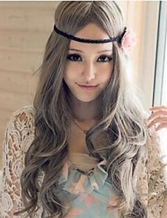 하라주쿠 스타일의 회색 곱슬 로리타 가발