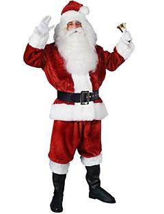 Cosplay Kostumer Festkostume Julemands Dragt Festival/Højtider Halloween Kostumer Rød Patchwork Frakke Bukser Handsker Bælte HatHalloween