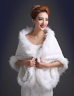 Warm Faux Fur Wedding Shawl(More Colors)