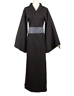 Inspired by Noragami Yato Anime Cosplay Costumes Cosplay Suits Patchwork Black Long Sleeve Yukata / Belt