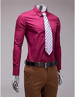 Borgonha slim fit camisa de manga longa