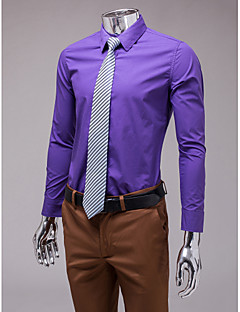 Purple Slim Fit Long Sleeve Shirt