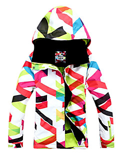 Gsou Snow Outdoor Women's Classic Color Strips Windproof Skiing Down Jacket