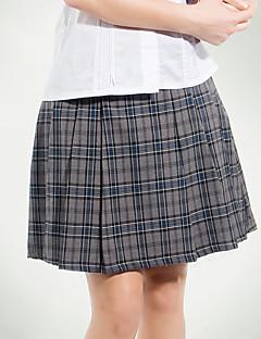 skoleuniformer grå Tattersall plisseret nederdel