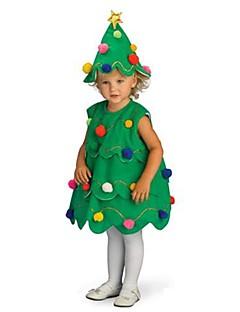 Cosplay Kostuums Kerstmanpakken Festival/Feestdagen Halloween Kostuums Groen Kleding / Hoed Kerstmis Kind Polyester