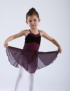 Kids' Dancewear Skirts Children's Training Chiffon 1 PieceBlack / Light Blue / Pink / Purple / Red / Burgundy / Dark Blue / Lilac / Lake