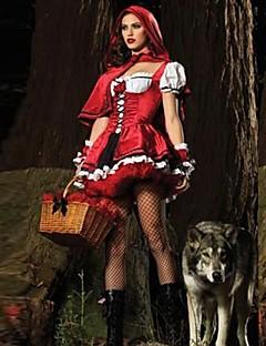 תחפושות קוספליי / תחפושת למסיבה תחפושות בנושאי קולנוע וטלוויזיה פסטיבל/חג תחפושות ליל כל הקדושים אדום טלאים שמלה / צעיףהאלווין (ליל כל