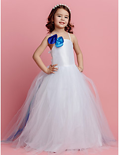 Ball Gown Spaghetti Straps Sweep/Brush Train Tulle Flower Girl Dress (2174389)