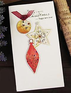 sztereoszkópikus szép akvarell folt ribbon karácsonyi kártya