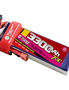 kudian rc batteri 70C 3300mAh t plug 3s