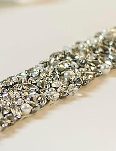 käsintehty luksusta rhineston kristalli häät morsiamen vyö / sashes
