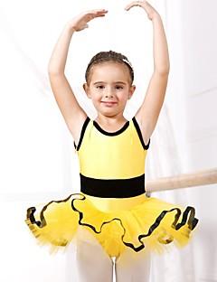 Balé Vestidos Crianças Elastano / Tule Manga Curta 110:50,120:53,130:56,140:59,150:61
