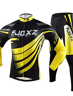 FJQXZ® Cycling Jersey with Tights Men's Long Sleeve Bike Breathable / Quick Dry / Ultraviolet ResistantJersey / Tights / Clothing