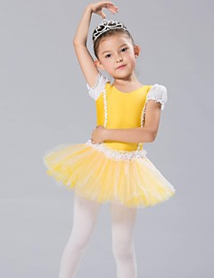 Kids' Dancewear Tops / Dresses&Skirts / Tutus Children's Chiffon / Spandex Long Sleeve CM:110:50,120:53,130:56,140:59,150:61