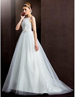 웨딩 드레스 - 아이보리(색상은 모니터에 따라 다를 수 있음) 볼 가운 스위프/브러쉬 트레인 스파게티 스트랩 레이스/튤