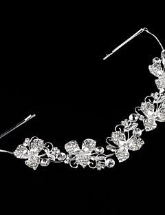 Femei Ștras Aliaj Imitație de Perle Diadema-Nuntă Cordeluțe
