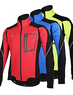 ARSUXEO® Cycling Jacket Men's Long Sleeve BikeBreathable / Thermal / Warm / Windproof / Anatomic Design / Fleece Lining / Reflective