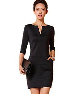 Slim Fit Langarm Kleid k.dama Frauen