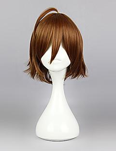 Cosplay Wigs Akame Ga Kill! Cosplay Brown Short Anime Cosplay Wigs 35 CM Heat Resistant Fiber Male