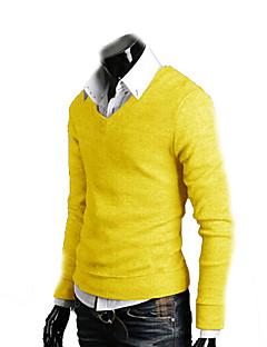 Fashion Casual  Cotton Slim V-neck Knitwear