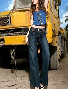 kvinnor danar lös plus size breda ben jeans