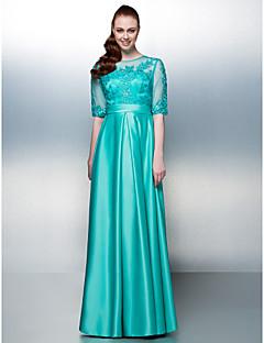 드레스 - 제이드 시스/컬럼 바닥 길이 보석 쉬폰