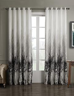 zwei Panele Window Treatment Rustikal Schlafzimmer Polyester Stoff Vorhänge drapiert Haus Dekoration For Fenster