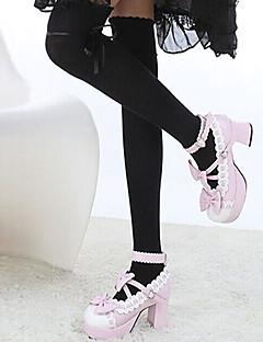 Fall in Love Unicolor Sweet Lolita Over Knee Socks