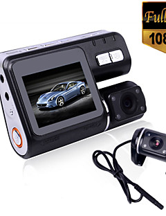 i1000 HD 1080P Dual Lens Camcorder Car DVR Dash Cam Black Box With Rear View Camera