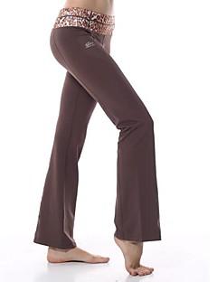 yokaland auto-cultivo calças de yoga hip-boot cut com estampa de leopardo