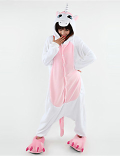 Docile Unicorn Pink Polar Fleece Kigurumi Pajamas Cartoon Sleepwear Animal Halloween Costume