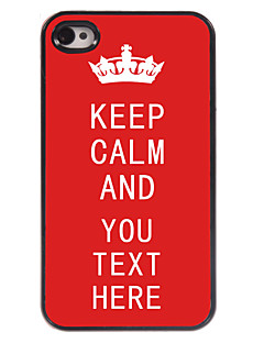 Personalized Case Red Keep Calm Design Metal Case for iPhone 4/4S