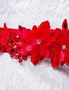Cetim / Cetim/Tule Casamento / Festa/Noite / Dia a Dia Faixa-Pedraria Feminino 98 ½polegadas(250cm) Pedraria